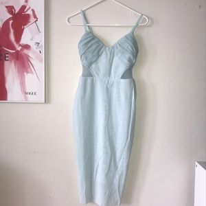 Bec & Bridge baby blue cocktail dress
